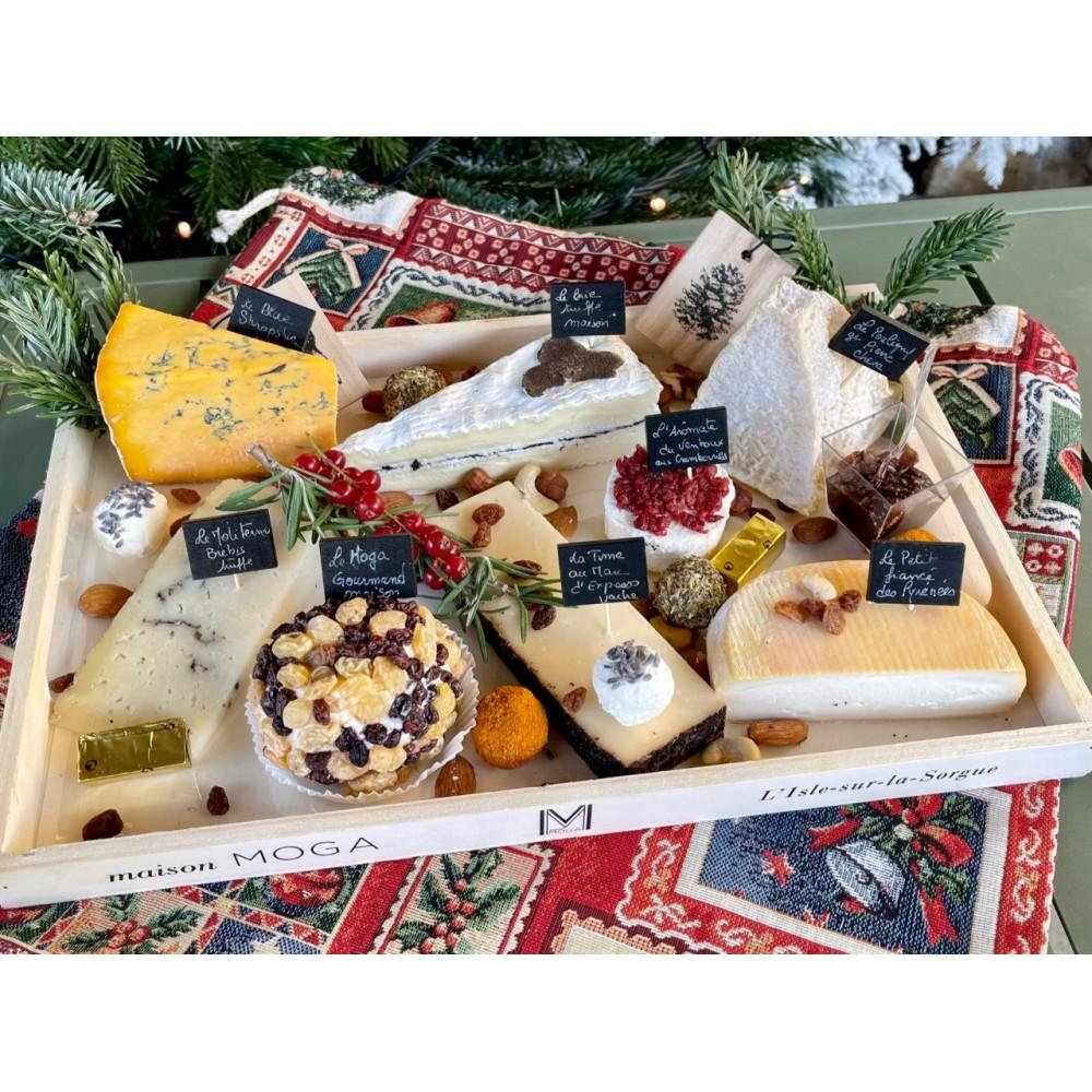 Plateau de Fromages Artisanaux de Noël : Le Gourmet - Nos plateaux fromages et charcuterie à partager : achat en ligne
