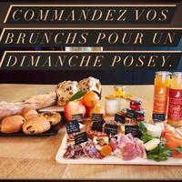 🔎*plateau charcuterie, fromages, saumon, brioche, confiture, beurre, jus de fruits, viennoiseries, yaourt, fruit) Commandes du brunch jusqu'à samedi 16h 👍  ☎️04 84 51 07 34 🤗